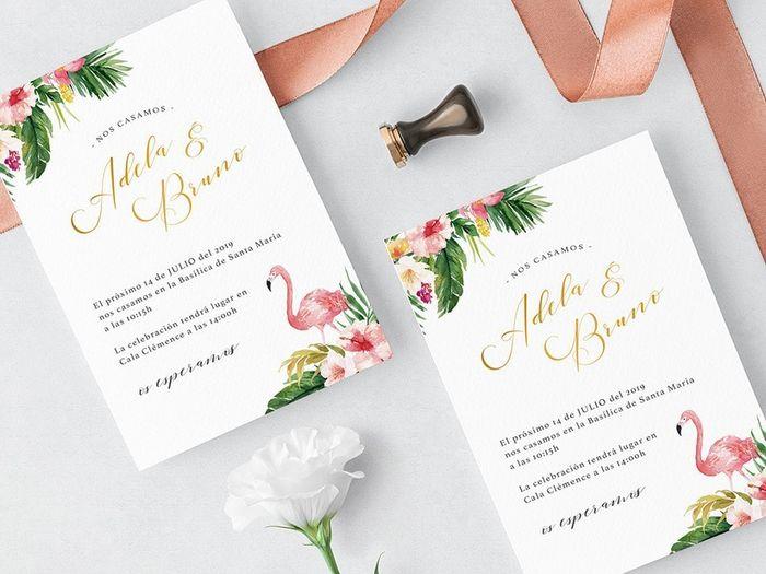 A 24h de la boda, ¡escoge tus invitaciones! 💌 2