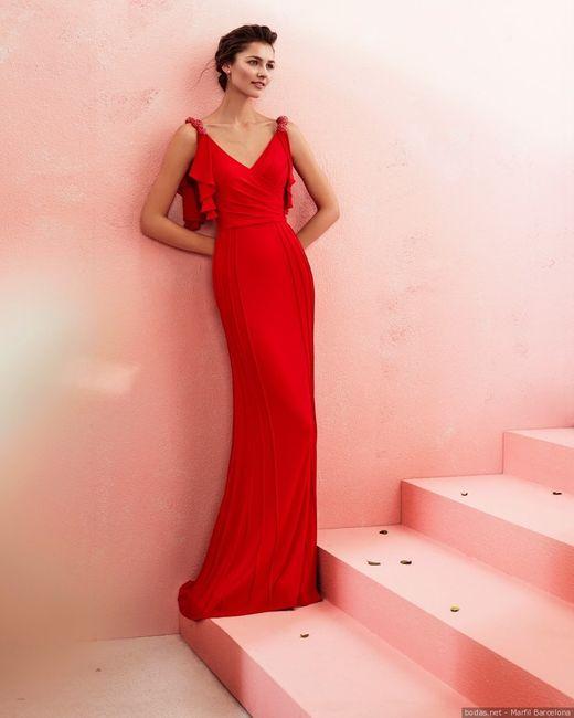 ¿Te alucina esta invitada de rojo? 💃 1