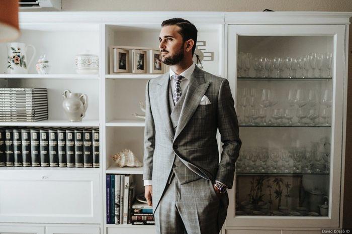 El traje del novio: ¿Liso o estampado? 👔 2