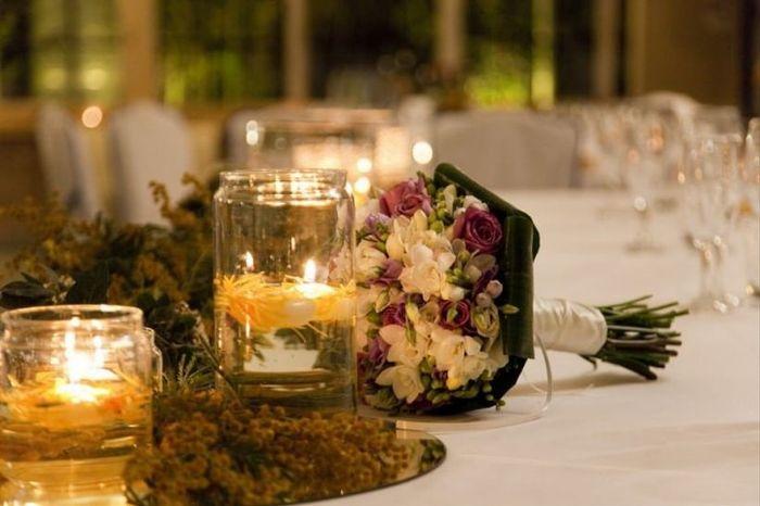 Velas para decorar las mesas del banquete: ¿Sí o no? 😊 2