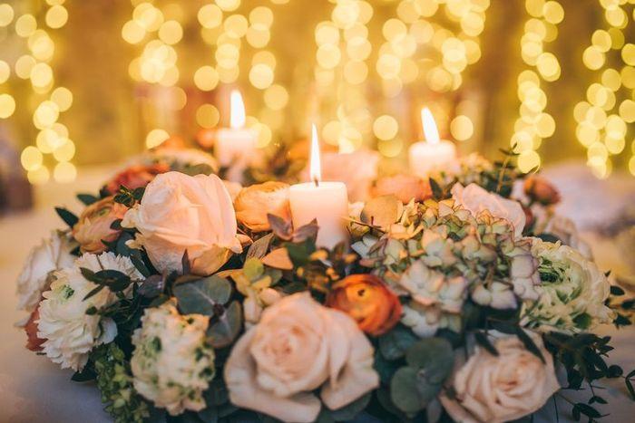 Velas para decorar las mesas del banquete: ¿Sí o no? 😊 3