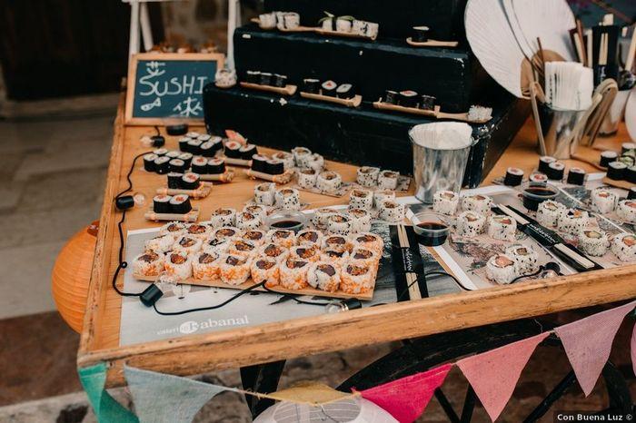 El sushi: ¿Pega o no pega en una boda? 1