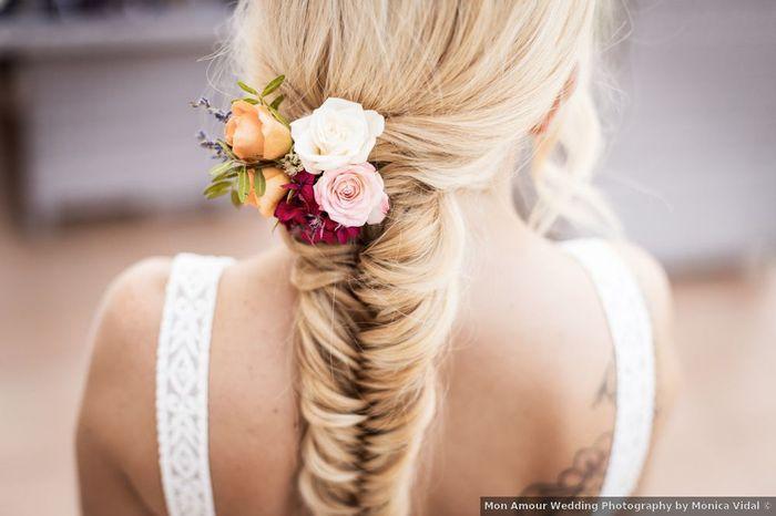 ¿Adorno floral en tu peinado? - 1