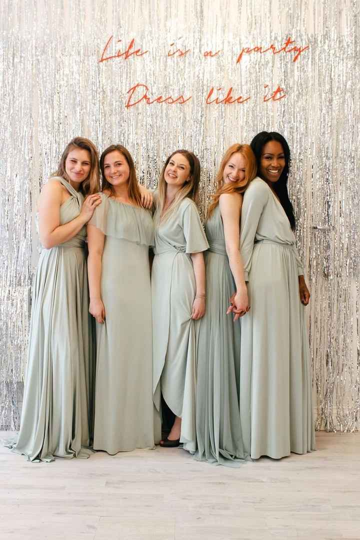 bridesmaid dresses different styles