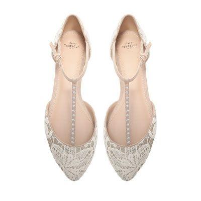 zapatos de tacon bajo con algo de encaje - moda nupcial - foro bodas