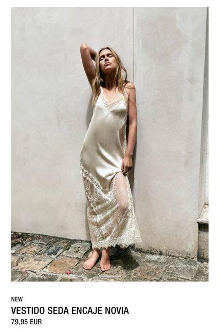 """¿Qué os parecen los """"vestidos"""" de novia de Zara? 1"""