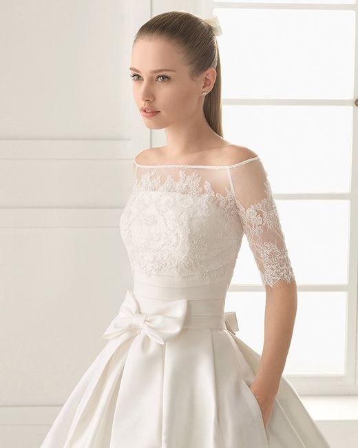 Vestido de novia con hombros