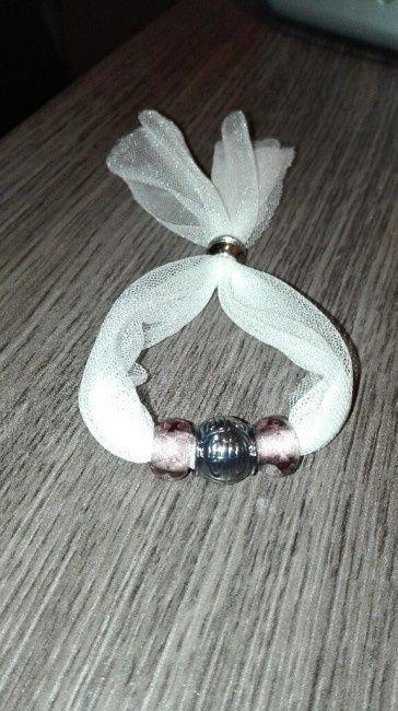 pulseras con tela sobrante del vestido - organizar una boda - foro