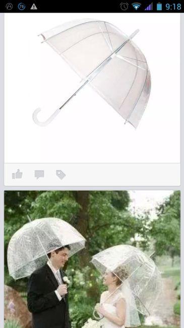 Pedido en grupo de paraguas transparente muy kuki;) - 2