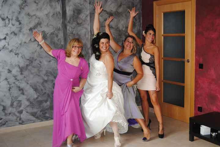 Con mi madre y mis hermanas