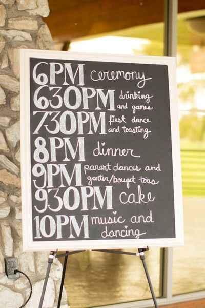 Programa de la boda, sos - 2