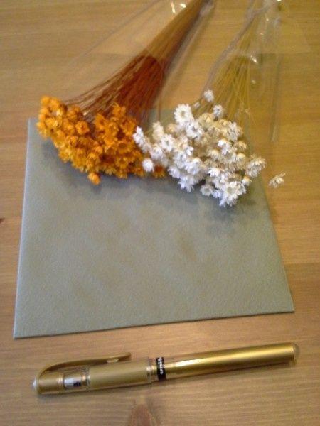 Decorar sobres de invitaciones manualidades foro - Flores secas para decorar ...