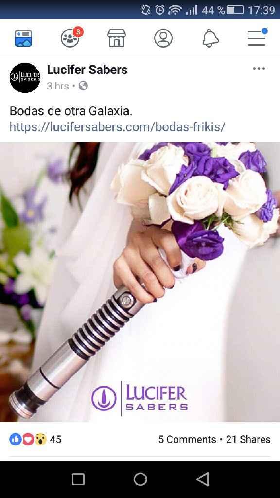 Ramo de novia espada láser Star Wars - 1
