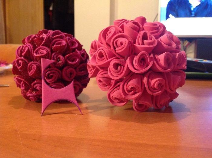 Flores de goma Eva 2