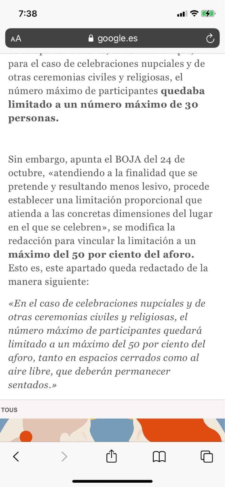 Medidas en Andalucía para celebraciones. Que no cunda el pánico chicas!! - 1