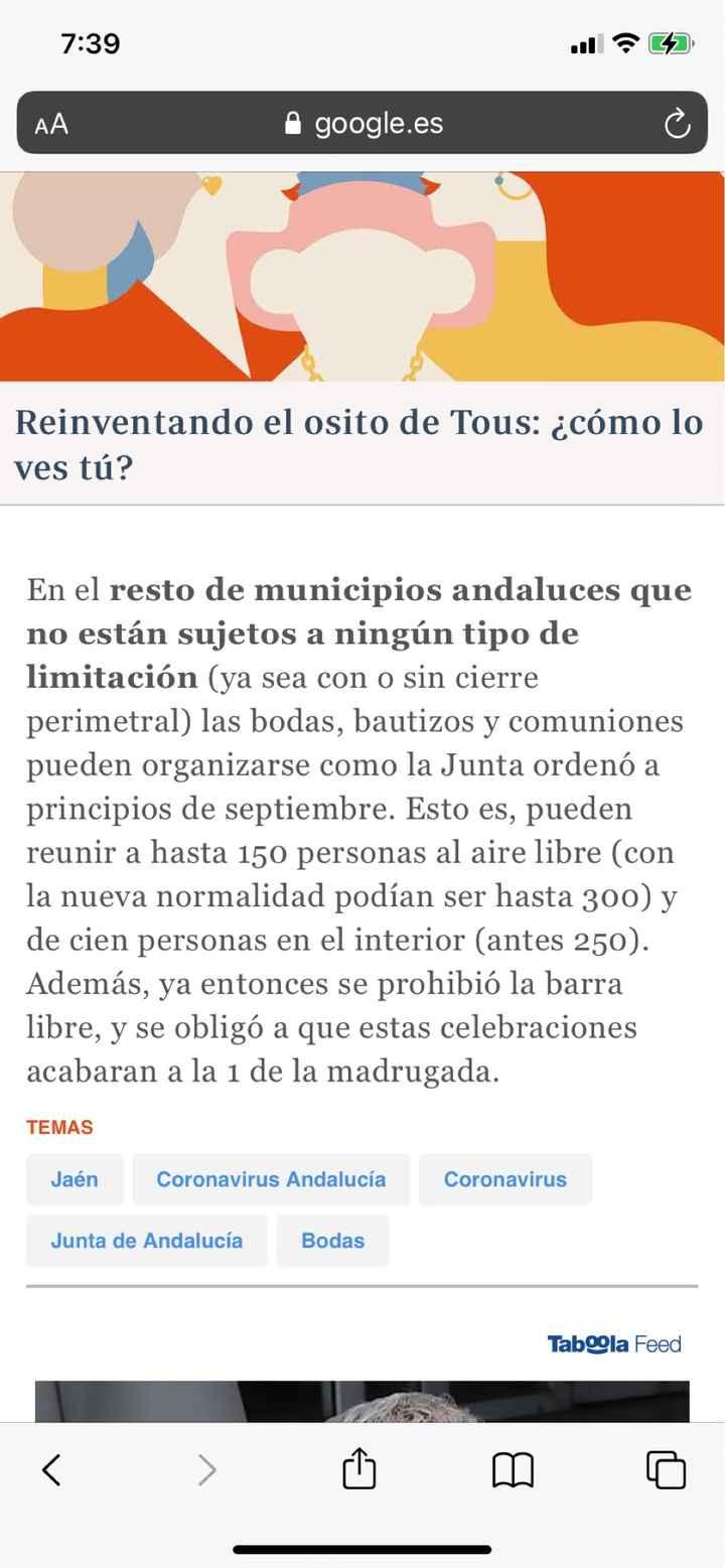 Medidas en Andalucía para celebraciones. Que no cunda el pánico chicas!! - 2