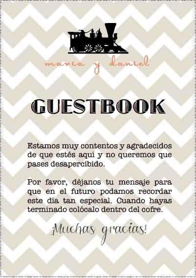 Instrucciones libro de firmas