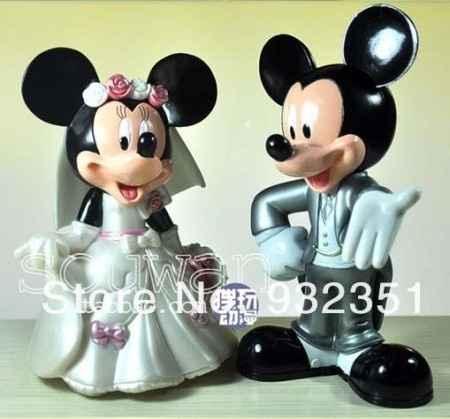Figura tarta Mickey y Minni