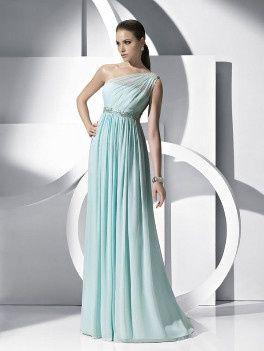 Vestido de novia aguamarina