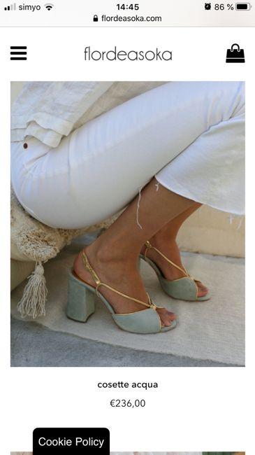 Zapatos celestes 11