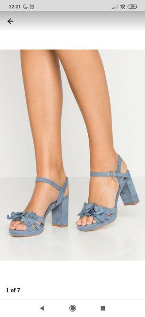 Zapatos de tacón azul celeste - 2