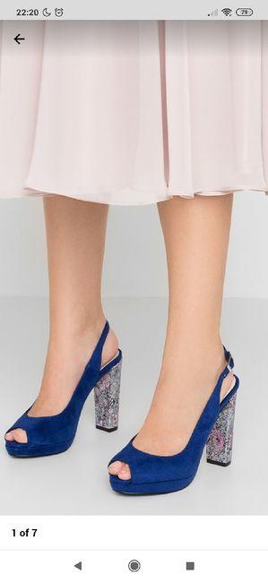 Zapatos de tacón azul celeste 3