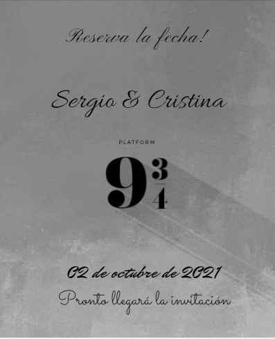 Nuestro Save the Date (no definitivo) - 2