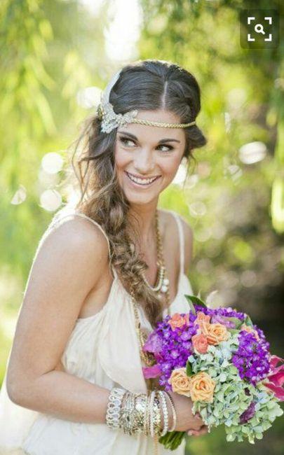 Peinados novias boho
