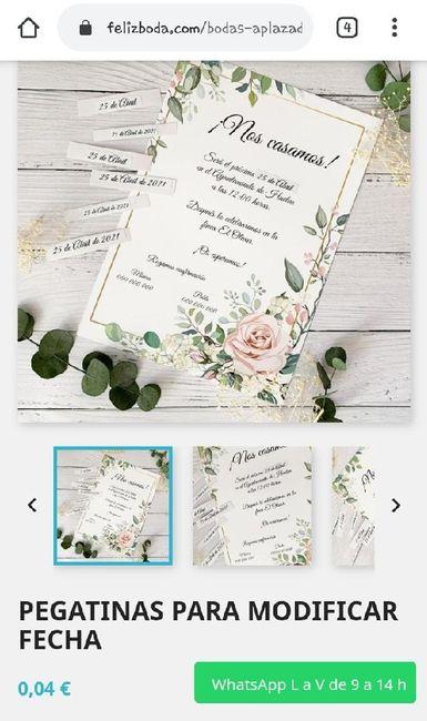 Pegatinas para modificar fecha en invitaciones 1