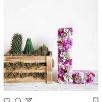Letras cartón para rellenar de flores - 1