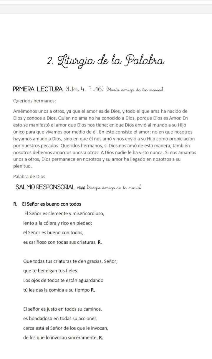 Lecturas en la ceremonia - 1