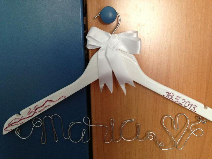 Mi percha para el vestido de novia personalizada - Organizar una ...