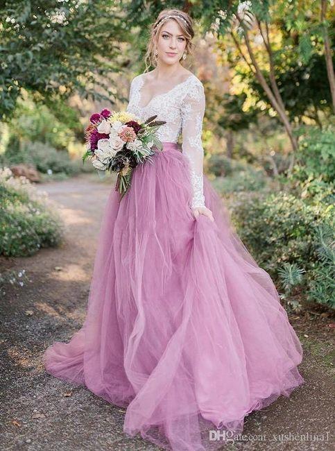 Vestidos de novia a todo color!! 1