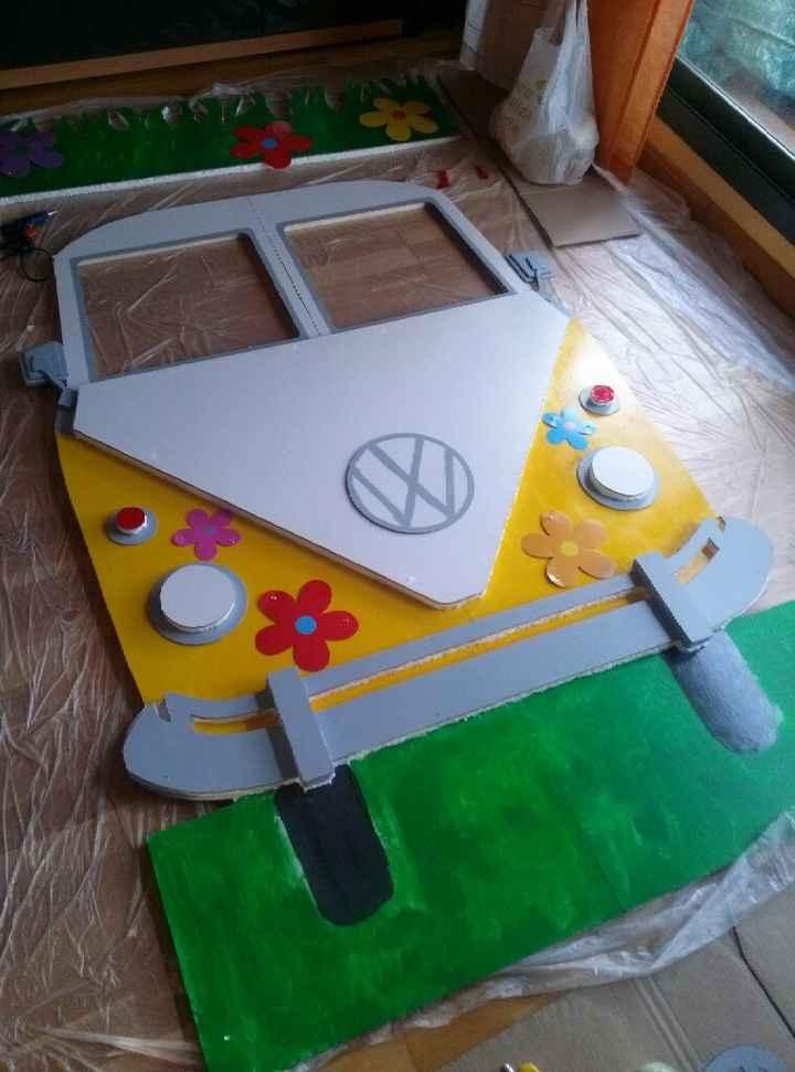 Photocall diy - volkswagen hippie - 1