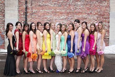 Damas de honor arcoíris