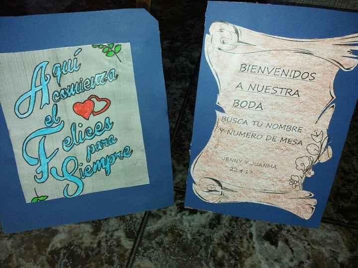 Carteles para la boda - 2