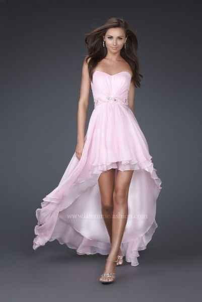 Vestido asimétrico rosa