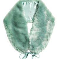 En busca de estola de piel sintética verde menta - 1