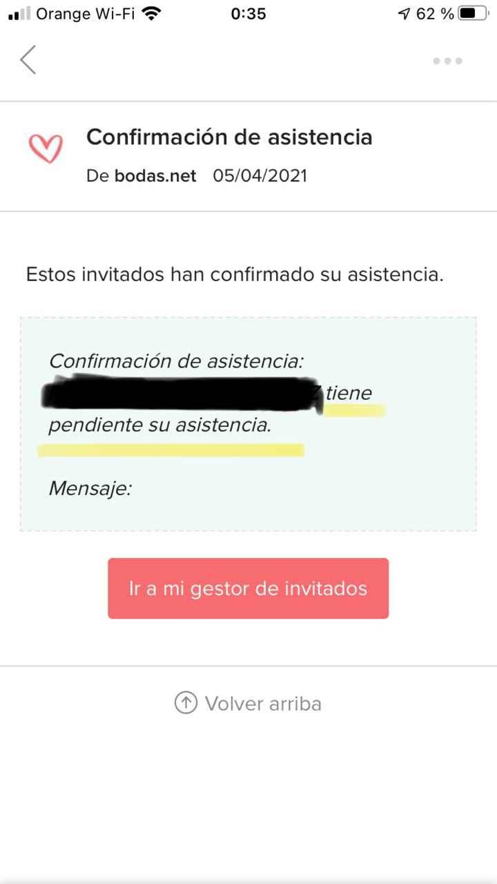 Confirmación asistencia en web - 1