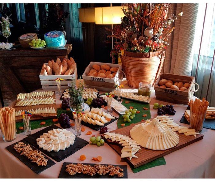 Mesa salada en boda - 1