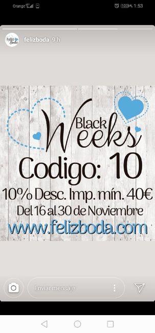 Feliz boda black week - 1