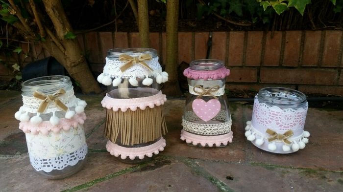 Mis botes de cristal decorados manualidades foro for Botes cristal decorados