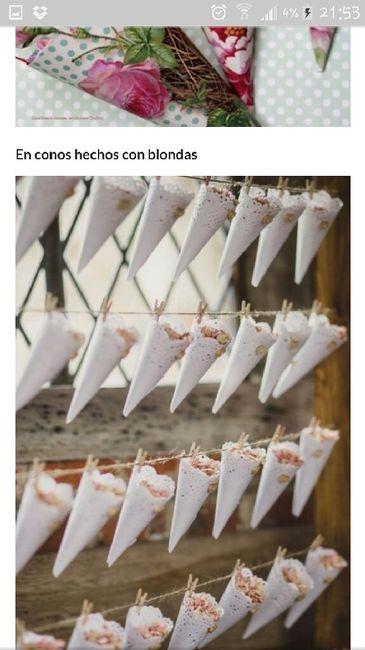 Que papel utilizar para los conos de arroz? - 1