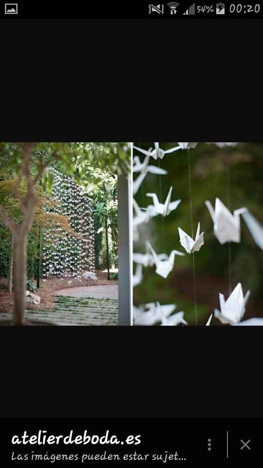Cortinas  de grullas  de papel - 2