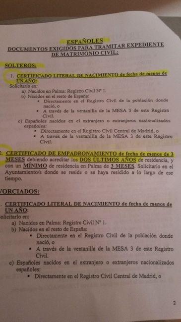 Documentación necesaria para casarse por lo civil en palma - Islas ...