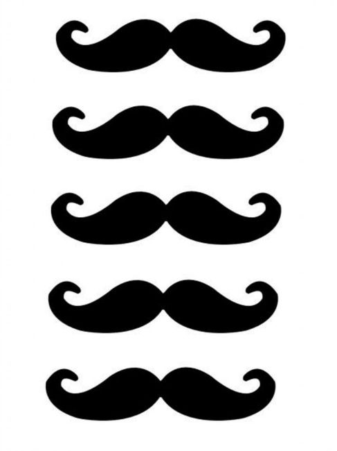 Lip and Mustache Photo Booth Props Free Printables