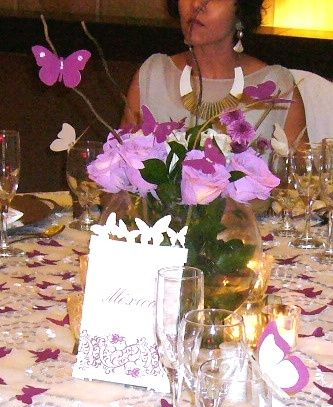 mesas mariposas
