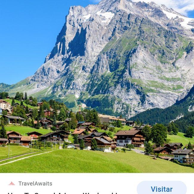Ruta de tren en suiza 1