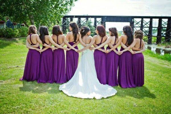 Damas de honor en tonos morados 💜 2