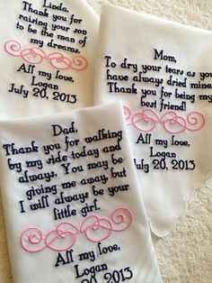 Una carta con retales de nuestro vestido